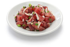 Ahi poke. Hawaiian raw tuna salad Stock Image