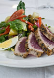 Ahi tuna salad Royalty Free Stock Images