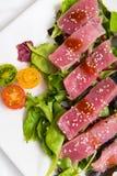 Ahi Tuna Salad Arkivbild