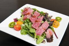 Ahi Tuna Salad Stock Photography