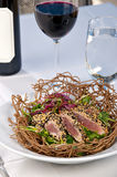 Ahi Tuna Salad Dinner Stock Photo