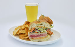 Ahi Tuna Sandwich Arkivbild