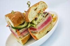 Ahi Tuna Sandwich Arkivfoton
