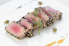 Ahi Tuna Seared Royalty Free Stock Images