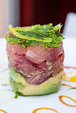 Ahi Tuna Tower Stockbild