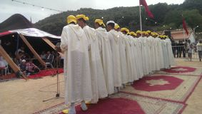 Ahidous folklore. Festival in ainlouh khnifra morroco stock image