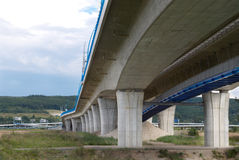 Ahigh way bridge. A concrete columns Royalty Free Stock Photography