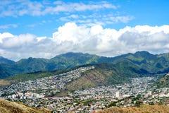 Ahila Ridge do ` de Wilhelmina Rise e de Wa, Honolulu, Havaí imagem de stock