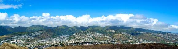 Ahila Ridge do ` de Wilhelmina Rise e de Wa, Honolulu, Havaí foto de stock royalty free