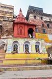 Ahilya Bai Ghat w Varanasi Obrazy Royalty Free