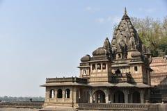 Ahilyeshwar寺庙,马赫斯赫瓦尔,中央邦 库存照片