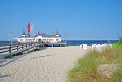 Ahlbeck, usedom海岛,波罗的海,德国 免版税库存照片