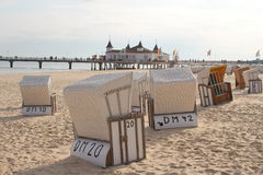 Ahlbeck, остров usedom, Балтийское море, Германия стоковое фото