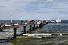 Ahlbeck at Baltic Sea on Usedom Island,Mecklenburg- Vorpommern,Germany. Royalty Free Stock Photos