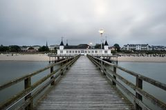 Ahlbeck at Baltic Sea on Usedom Island,Mecklenburg- Vorpommern,Germany. Royalty Free Stock Photo