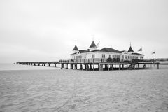 Ahlbeck in Germany. Ahlbeck at Baltic Sea on Usedom Island, Mecklenburg- Vorpommern,Germany. Ahlbeck is a district of the Heringsdorf municipality Royalty Free Stock Images