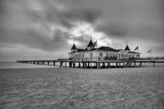 Ahlbeck in Germany. Ahlbeck is a district of the Heringsdorf municipality on the island of Usedom on the Baltic coast. Germany Stock Photo