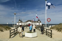 Ahlbeck in Germany. Ahlbeck is a district of the Heringsdorf municipality on the island of Usedom on the Baltic coast. Germany Royalty Free Stock Images