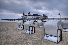 Ahlbeck in Germany. Ahlbeck is a district of the Heringsdorf municipality on the island of Usedom on the Baltic coast. Germany Stock Photos