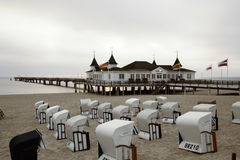 Ahlbeck in Germany. Ahlbeck is a district of the Heringsdorf municipality on the island of Usedom on the Baltic coast. Germany Royalty Free Stock Photo