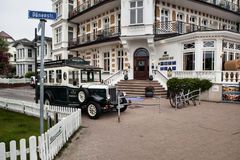Ahlbeck in Germany. Ahlbeck is a district of the Heringsdorf municipality on the island of Usedom on the Baltic coast. Germany Royalty Free Stock Photography