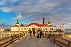 Ahlbeck Pier on Usedom, Ahlbeck, Germany Stock Photo