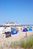 Ahlbeck, isola di usedom, Mar Baltico, Germania immagini stock