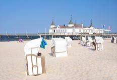 Ahlbeck, isola di usedom, Mar Baltico, Germania immagine stock libera da diritti