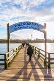 Ahlbeck molo na Usedom, Ahlbeck, Niemcy Zdjęcia Royalty Free