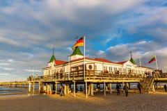 Ahlbeck molo na Usedom, Ahlbeck, Niemcy Obrazy Royalty Free
