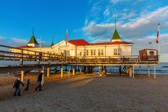 Ahlbeck molo na Usedom, Ahlbeck, Niemcy Fotografia Stock