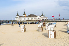 Ahlbeck Pier Royalty Free Stock Photo