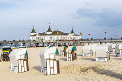 Ahlbeck Pier Royalty Free Stock Images