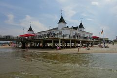 Ahlbeck Pier Stock Images
