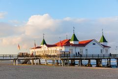 Ahlbeck Pier on Usedom, Ahlbeck, Germany Royalty Free Stock Photos
