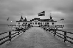 Ahlbeck przy morzem bałtyckim na Usedom wyspie, Mecklenburg- Vorpommern, Niemcy Obrazy Stock