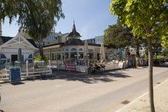 Ahlbeck przy morzem bałtyckim na Usedom wyspie, Mecklenburg- Vorpommern, Niemcy Obrazy Royalty Free