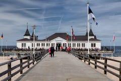 Ahlbeck przy morzem bałtyckim na Usedom wyspie, Mecklenburg- Vorpommern, Niemcy Zdjęcia Stock