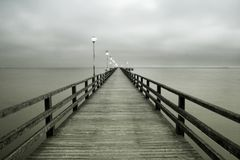 Ahlbeck przy morzem bałtyckim na Usedom wyspie, Mecklenburg- Vorpommern, Niemcy Fotografia Royalty Free