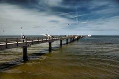 Ahlbeck przy morzem bałtyckim na Usedom wyspie, Mecklenburg- Vorpommern, Niemcy Zdjęcie Royalty Free