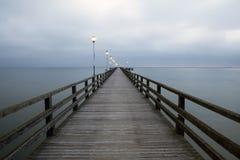 Ahlbeck przy morzem bałtyckim na Usedom wyspie, Mecklenburg- Vorpommern, Niemcy Obraz Royalty Free