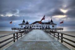 Ahlbeck przy morzem bałtyckim na Usedom wyspie, Mecklenburg- Vorpommern, Niemcy Obraz Stock