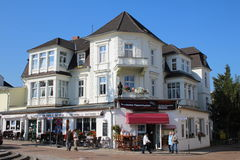 Ahlbeck,Usedom island. Historic center of Ahlbeck on Usedom island,Baltic Sea,Mecklenburg, Western Pomerania,Germany. Typical white architecture famous for the stock photography