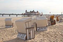 Ahlbeck, usedom wyspa, Morze Bałtyckie, Niemcy Zdjęcie Stock