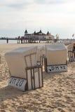 Ahlbeck, usedom wyspa, Morze Bałtyckie, Niemcy Fotografia Stock