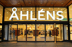 Ahlens is a Swedish chain of department stores, located in almost every city in the country Royalty Free Stock Photo
