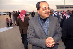 Ahmad Tibi - Israel Parliament Member Arkivbilder