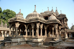 ahmadabad hateesinh印度耆那教的寺庙 免版税库存照片