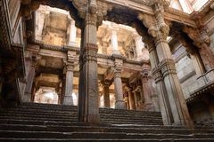 Ahmadabad, India. India, Adalaj Stepwell is a Hindu water building in the village of Adalaj, close to Ahmedabad town in the Indian state of Gujarat Stock Photography
