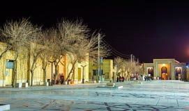Ahmadi ulica w Shiraz przy nocą, Iran Fotografia Stock